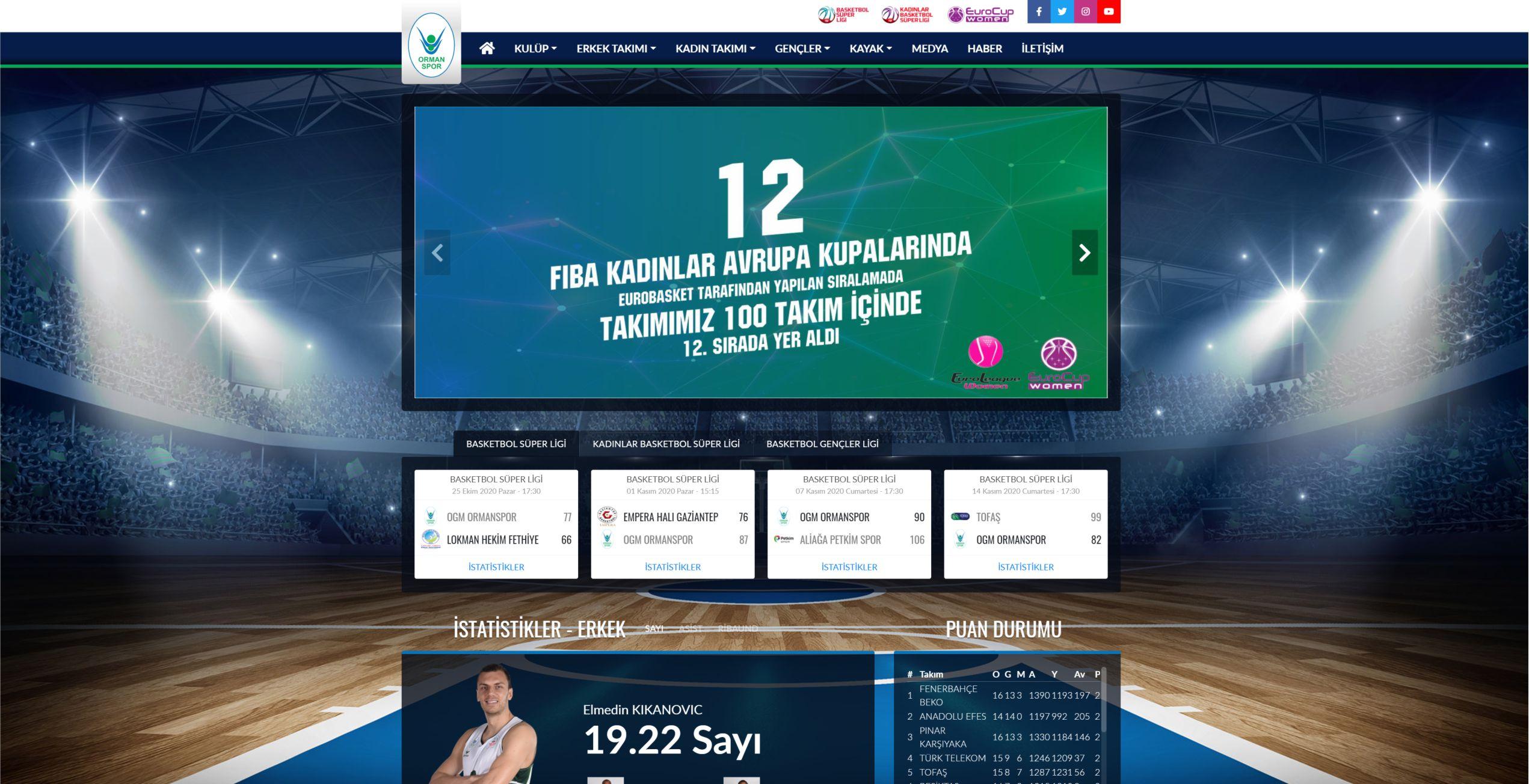 Ormanspor Web Sayfası